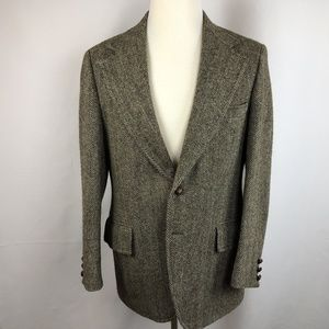 Harris Tweed Men's Hand Woven Scottish Wool Blazer